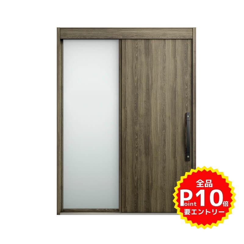 玄関引戸 リクシル エルムーブ2 L15型(木目枠) 片袖 本体鋼板仕様 呼称W187 W1870×H2288mm 玄関引き戸 LIXIL/TOSTEM トステム 玄関ドア サッシ リフォーム DIY