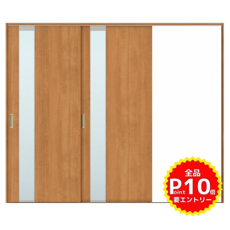 建具 室内引戸 TA Vレール方式 ノンケーシング枠 片引戸 2枚建/EGT(エッチングガラス) 2420 リクシル トステム ドア 交換 リフォーム DIY