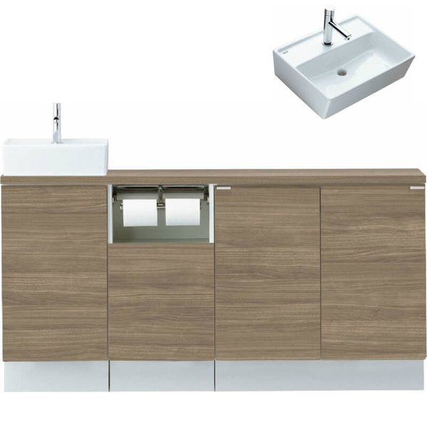 トイレ手洗い手洗器やカウンターの組み合わせで上質な空間を実現 3月はエントリーでP10倍 トイレ手洗 キャパシア 授与 フルキャビネット カウンター奥行280 ベッセル型 角形手洗器 YN-AA LIXIL X EAEKXH J L R リクシル 値下げ ハンドル水栓 E