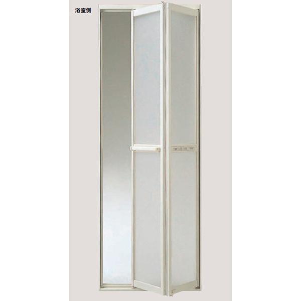 浴室ドア LIXIL/リクシル 浴室中折ドアME型完成品 外付 S-200-744J 樹脂パネル DW730×DH2000mm(扉本体のみ・枠供給不可)【2枚折】【ドア】【建具】