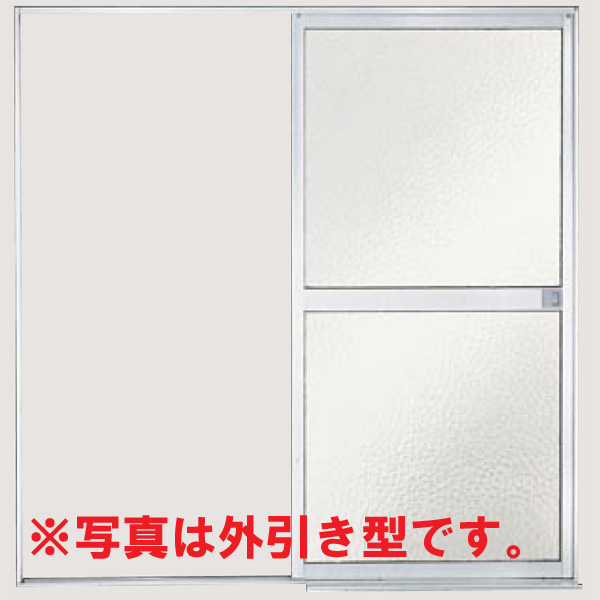 Bathroom door frame with LIXIL lixil Tostem bathroom sliding piece and sliding doors in the pull type (tub-side) plastic Panel U-12-17 W1215 * H1757