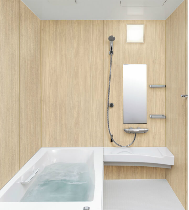 高級感ある浴室へのリフォームにおすすめシステムバス ユニットバス スパージュ リクシル LIXIL INAX システムバスルーム スパージュ BXタイプ B1717(1650mm×1650mm)サイズ 全面張り 戸建1階用ユニットバス システムバス リクシル LIXIL 高級 浴槽 浴室 お風呂 リフォーム