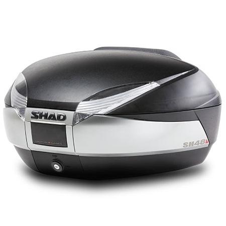 バイク リアボックス ハードケース SHAD SH48 リアボックス チタニウム 【取り寄せ】