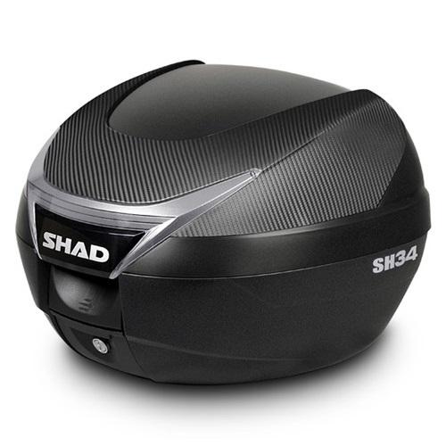 バイク リアボックス ハードケース SHAD SH34 リアボックス カーボン 【取り寄せ】