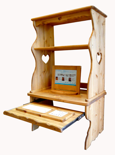 [カントリー家具]パソコンデスク【送料無料】パソコン台 パソコンラック PCラック[完成品]木製 ナチュラル カントリーテイスト フレンチカントリー モダン 無垢
