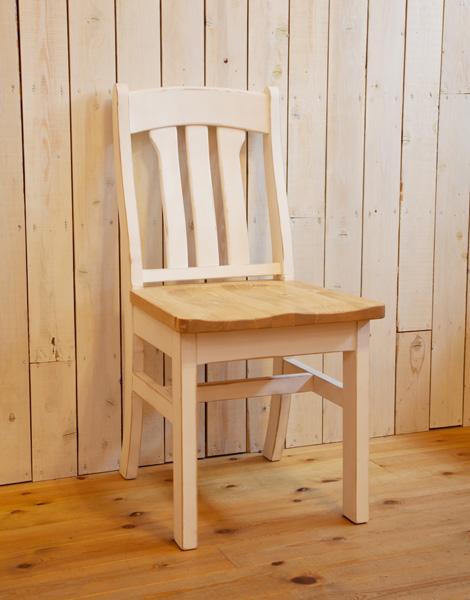 [カントリー家具] ラスティックカントリーチェアーTWO【送料無料】[完成品]木製 ナチュラル カントリーテイスト フレンチカントリー モダン 無垢