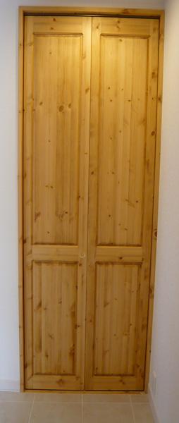 [カントリー家具]クローゼットドア(シンプル)(室内用)【送料無料】[完成品]木製 ナチュラル カントリーテイスト フレンチカントリー モダン 無垢
