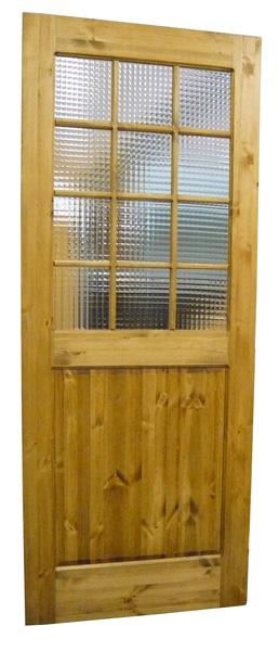[カントリー家具]ドア(チェッカーガラス格子)(室内用)【送料無料】[完成品]木製 ナチュラル カントリーテイスト フレンチカントリー モダン 無垢