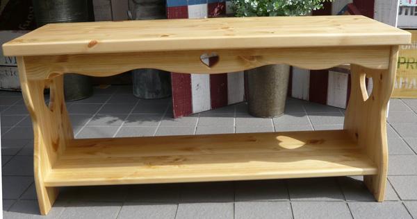 [カントリー家具]【送料無料】カントリーベンチW950 [完成品]木製 ナチュラル カントリーテイスト フレンチカントリー モダン 無垢