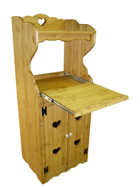 [カントリー家具 収納] オープンレンジキャビネットS(キッチンキャビネット)【スライドレール付】【送料無料】[完成品]木製 ナチュラル カントリーテイスト フレンチカントリー モダン 無垢