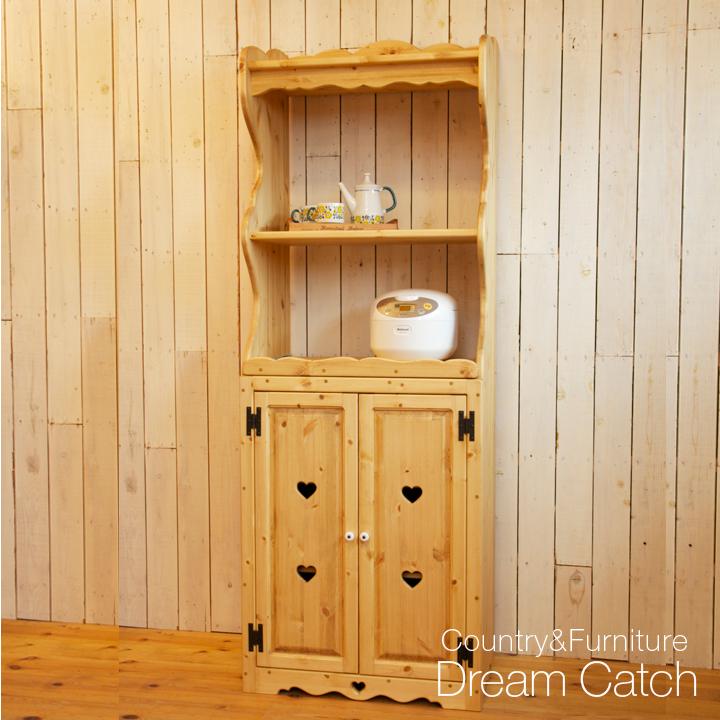 [カントリー家具 収納] オープンレンジキャビネット[キッチン 収納]【送料無料】 [完成品]木製 ナチュラル カントリーテイスト フレンチカントリー モダン 無垢