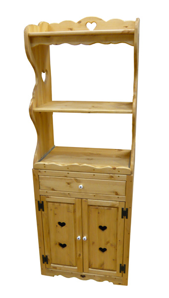 [カントリー家具 収納] オープンレンジキャビネット(引き出し付 )【送料無料】[完成品]木製 ナチュラル カントリーテイスト フレンチカントリー モダン 無垢