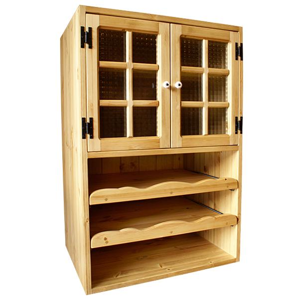 [カントリー家具]マルチキッチンキューブA【送料無料】[完成品]木製 ナチュラル カントリーテイスト フレンチカントリー モダン 無垢