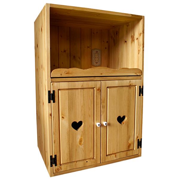 [カントリー家具 収納] マルチキッチンキューブ(食器棚)【送料無料】木製 ナチュラル カントリーテイスト フレンチカントリー モダン 無垢