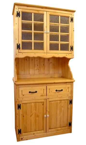 [カントリー家具]チェッカーガラスカップボード(食器棚)【送料無料】キッチン収納[完成品]木製 ナチュラル カントリーテイスト フレンチカントリー モダン 無垢