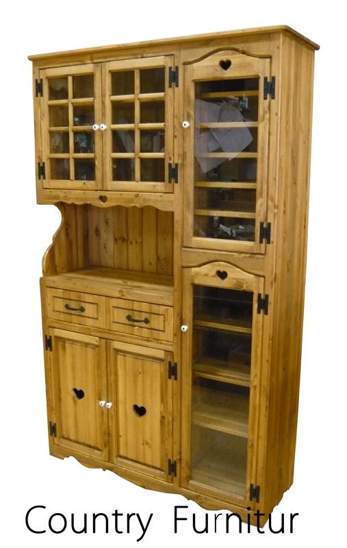 [カントリー家具 収納] マルチカップボード1200(キッチン食器棚)【送料無料】 [完成品]木製 ナチュラル カントリーテイスト フレンチカントリー モダン 無垢
