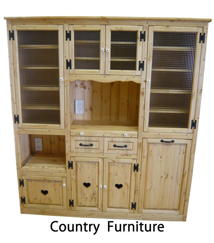 [カントリー家具 収納] 【送料無料】カップボード(W1600)(食器棚) [完成品]木製 ナチュラル カントリーテイスト フレンチカントリー モダン 無垢