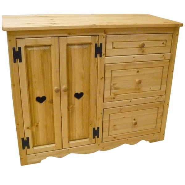 [カントリー家具] キッチンチェスキャビ【送料無料】[完成品]木製 ナチュラル カントリーテイスト フレンチカントリー モダン 無垢