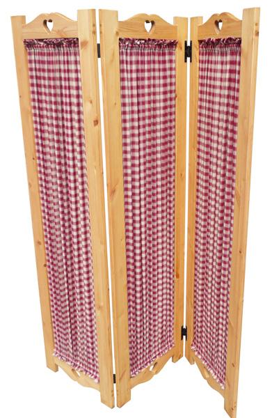 [カントリー家具] パーテーション(3連) [完成品]キッチンやリビングの目隠しに木製 ナチュラル カントリーテイスト フレンチカントリー モダン 無垢