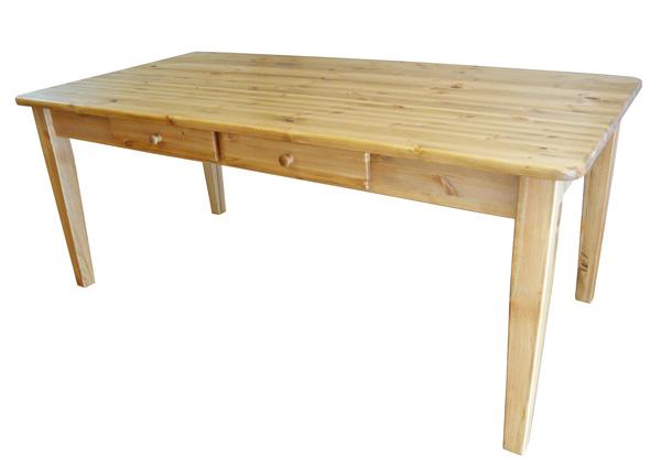 [カントリー家具] ダイニングテーブルW1500【送料無料】パイン材/テーブル/食卓テーブル [完成品]木製 ナチュラル カントリーテイスト フレンチカントリー モダン 無垢