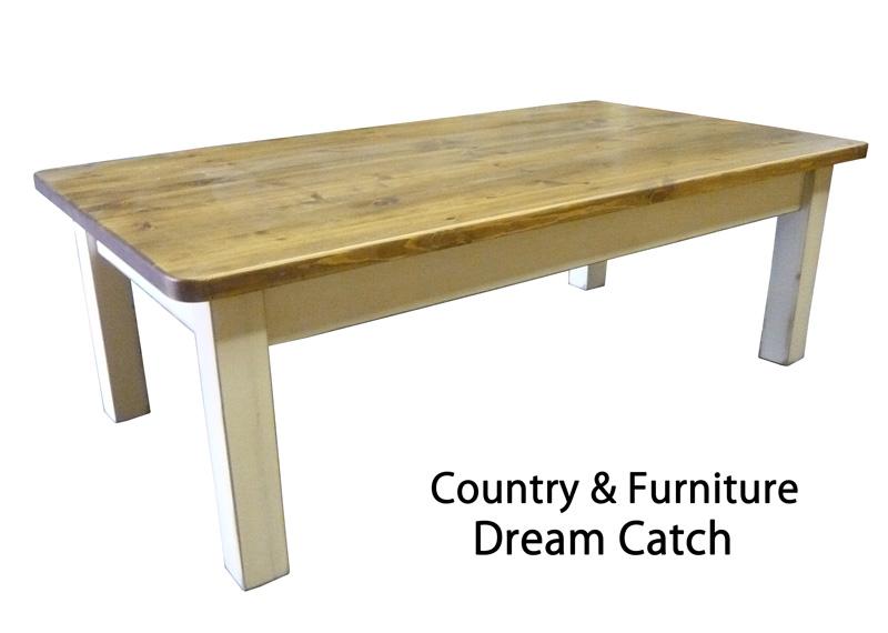 [カントリー家具] ラスティックローテーブルW1200【送料無料】パイン材 テーブル ローテーブル [完成品]木製 ナチュラル カントリーテイスト フレンチカントリー モダン 無垢