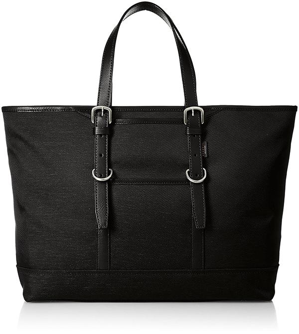 全3色 ビジネス トートバッグ メンズ レディース EVERWIN 日本製 牛革ハンドル長さ調整可能 撥水加工を施したナイロントートM ブラック ネイビー ベージュ 紳士用 男性用 女性用 かばん カバン 鞄 EW21529