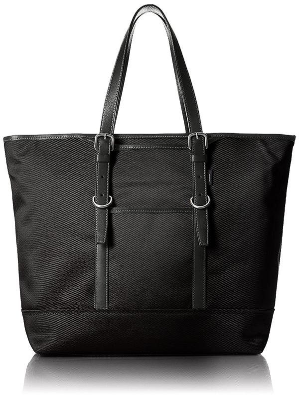 全3色 ビジネス トートバッグ メンズ レディース EVERWIN 日本製 牛革ハンドル長さ調整可能 撥水加工を施したナイロントートL ブラック ネイビー ベージュ 紳士用 男性用 女性用 かばん カバン 鞄 EW21530