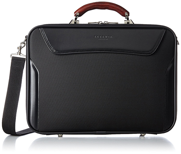 ビジネス アタッシェケース ショルダーバッグ 軽量 メンズ レディース EVERWIN 日本製 木手ハンドル ブラック 紳士用 男性用 女性用 かばん カバン 鞄 EW21575
