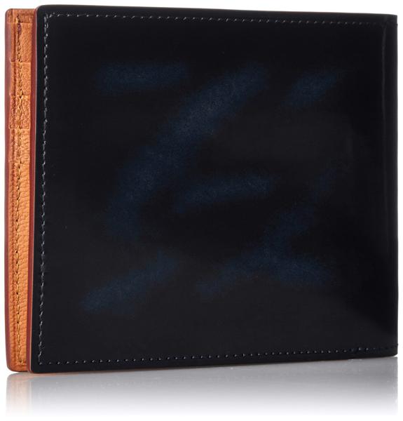 全3色 二つ折り財布 札入れ 小銭入れなし カードケース カード入れ メンズ ギフトにも 本革 EVERWIN 日本製 レザー 匠の逸品 ガラス加工 ネイビー グリーン ワイン 紳士用 男性用 女性用 EW21565