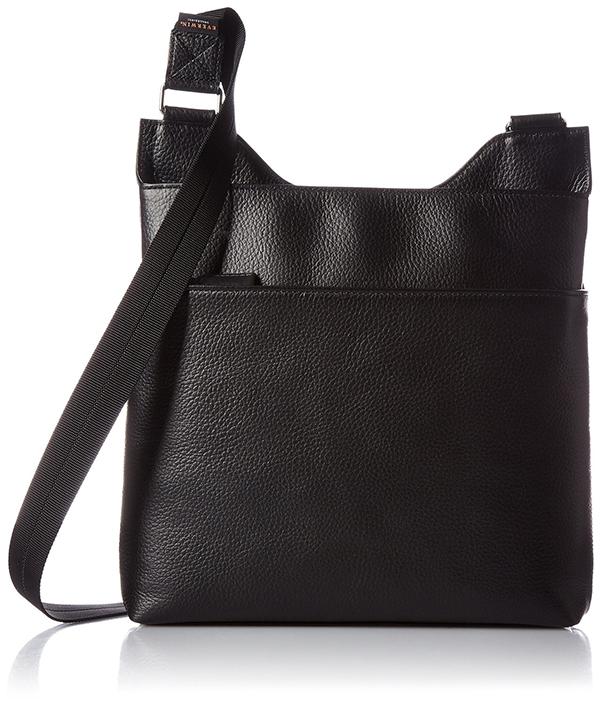 ビジネス ショルダーバッグ メンズ レディース 本革 おしゃれ ギフトにも EVERWIN 日本製 レザー 薄型 ショルダー ブラック 紳士用 男性用 女性用 かばん カバン 鞄 22107