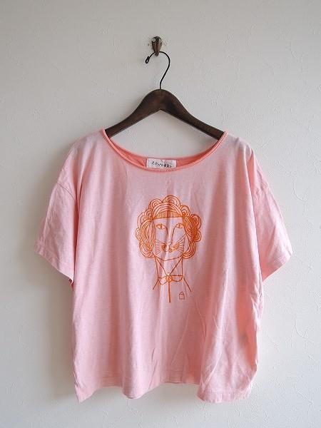 ミナペルホネン mina perhonen madame liona コットンプリントTシャツ 38【中古】【62H71】【高価買取中】【店頭受取対応商品】
