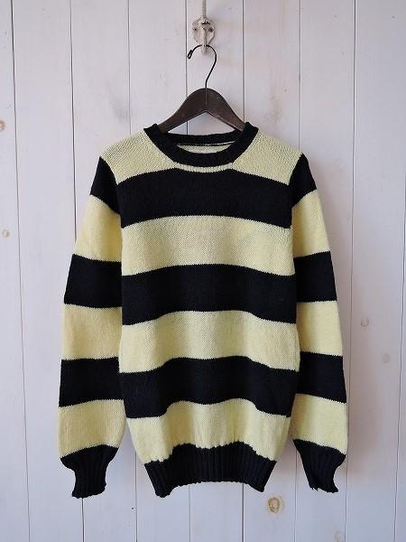 ジャミーソンズ Jamieson's ウールボーダーニットセーター 34【中古】【51I71】【高価買取中】【店頭受取対応商品】