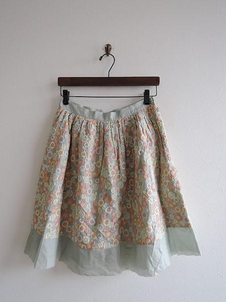 ネセセア nesessaire コットン刺繍スカート F【中古】【12L71】【高価買取中】【店頭受取対応商品】