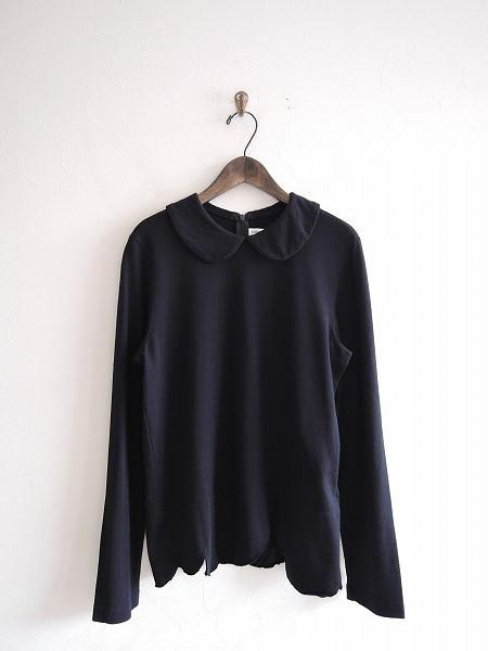 ローブドシャンブル コムデギャルソン robe de chambre COMME des GARCONS スカラップニットカットソー L【中古】【61B81】【高価買取中】【店頭受取対応商品】
