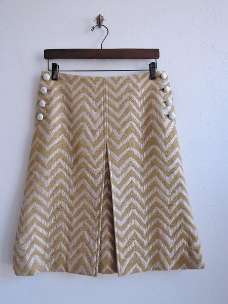 ミナペルホネン mina perhonen cascade 刺繍スカート 1【中古】【62C81】【高価買取中】【店頭受取対応商品】
