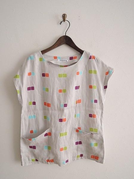 マリメッコ marimekko OKTO リネンプリントシャツ 36【中古】【72C81】【高価買取中】【店頭受取対応商品】