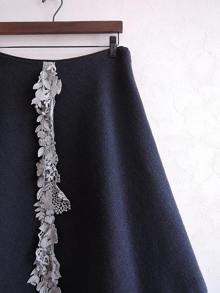 ミナペルホネン mina perhonen nordic moss ウール混台形スカート 38【中古】【32D81】【高価買取中】【店頭受取対応商品】