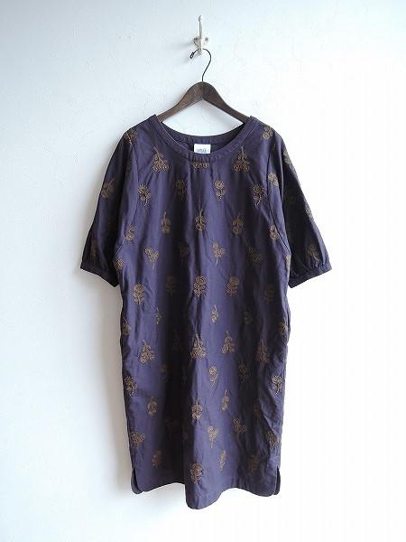 ミナペルホネンランドリー mina perhonen laundry bonheur 刺繍ワンピース 38【中古】【10G81】【高価買取中】【店頭受取対応商品】