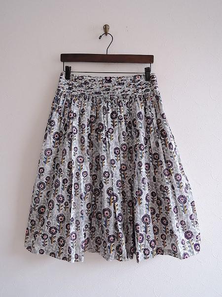 ミナペルホネン mina perhonen famille ピンタックギャザースカート 36【中古】【32F81】【高価買取中】【店頭受取対応商品】