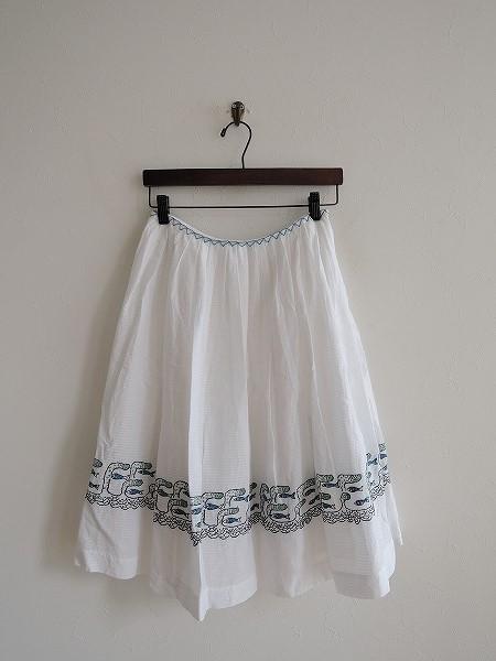 ミナペルホネン mina perhonen voyage 刺繍フレアスカート 36【中古】【40I81】【高価買取中】【店頭受取対応商品】