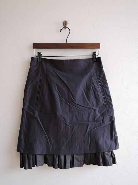 プティローブノアー petite robe noire コットンフリルスカート -【中古】【92I81】【高価買取中】【店頭受取対応商品】