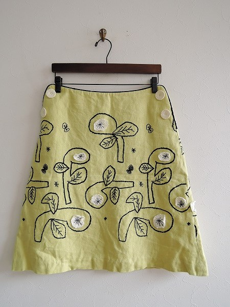 ミナペルホネン mina perhonen bowスカート 36【中古】【80J81】【高価買取中】【店頭受取対応商品】