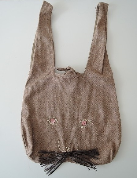 ミナペルホネン mina perhonen usa bag うさバッグ大 ブラウン【中古】【92L81】【高価買取中】【店頭受取対応商品】