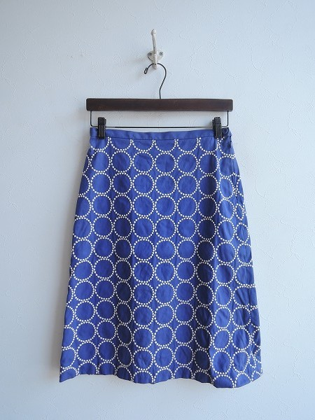 ミナペルホネン mina perhonen tambourine 刺繍スカート 36【中古】【10C91】【高価買取中】【店頭受取対応商品】