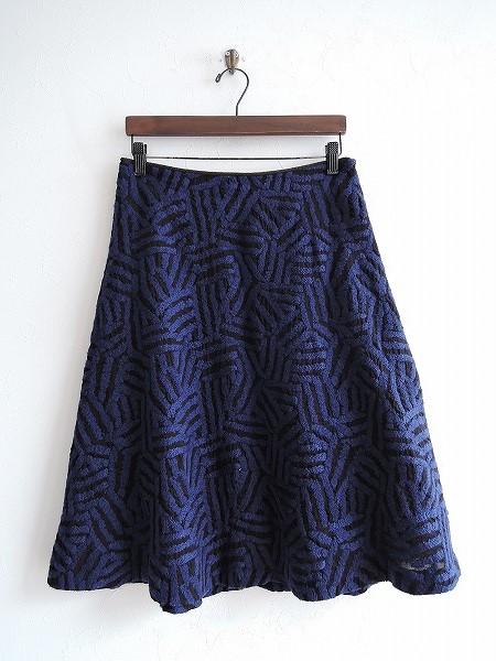 ミナペルホネン mina perhonen log 刺繍フレアスカート 38【中古】【22C91】【高価買取中】【店頭受取対応商品】