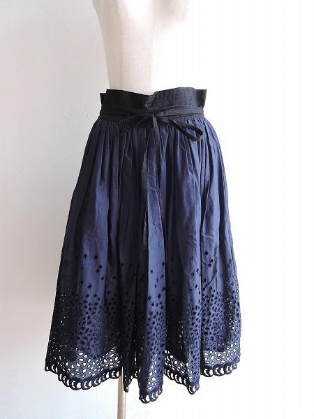 ネイティブヴィレッジ NATIVE VILLAGE LACE EMBROIDERY ギャザースカート -【中古】【13C91】【高価買取中】【店頭受取対応商品】