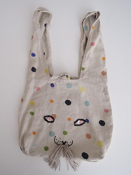 ミナペルホネン mina perhonen usa bag -candy- うさバッグ大【中古】【71C91】【高価買取中】【店頭受取対応商品】