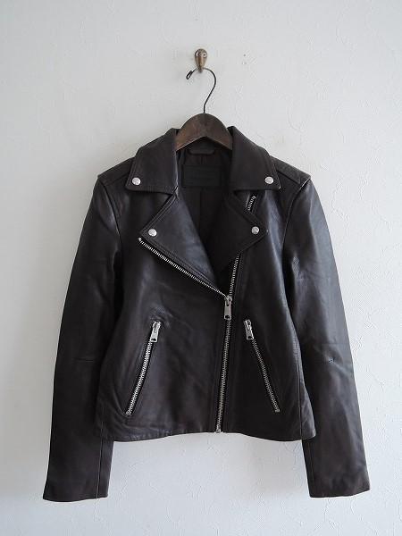 オールセインツ ALLSAINTS Dalby Biker Jacket レザーライダースジャケット UK8/US4/EU36【中古】【90D91】【高価買取中】【店頭受取対応商品】