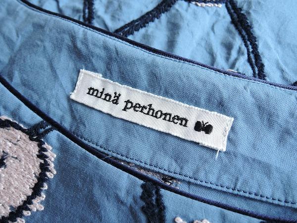 ミナペルホネン mina perhonen copains シルクブレンド刺繍プルオーバー 38 12E91高価買取中店IEDHYW29