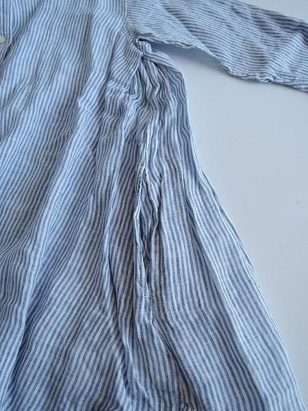 クォータリー QUARTERLY リネンストライプAラインシャツチュニック60H91高価買取中W9YDIEe2H